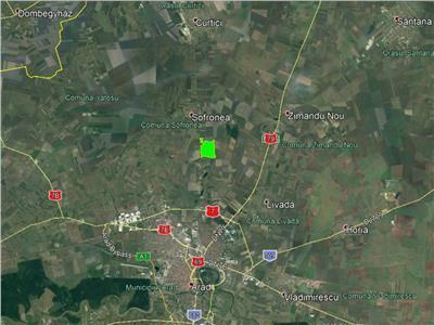 BRUKEN  teren de vanzare, 110 ha in Arad (Sofronea)