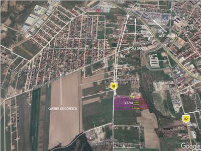 Teren in zona rezidentiala 3,77 ha, Oradea (Apateului)